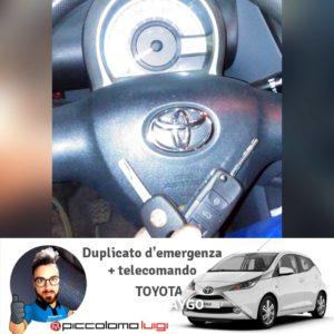 Duplicato d'emergenza + telecomando Toyota Aygo